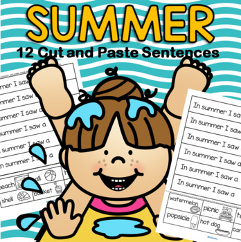 SUMMER Cut and Paste Sentences FREE