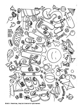 SUMMER DOODLE POSTER - HOW MANY DO YOU SEE?