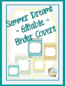 SUMMER DREAMS ~editable~ Binder Covers