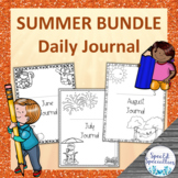 SUMMER Daily Journal Writing for Special Education BUNDLE