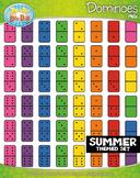 SUMMER Dominoes Clipart {Zip-A-Dee-Doo-Dah Designs}