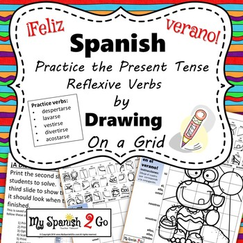 SUMMER: Draw the Square in the Grid for Spanish Reflexive Verbs