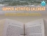 END OF YEAR SUMMER ACTIVITY CALENDAR