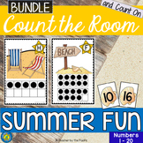 SUMMER FUN Math Center: Count the Room and Count On {BUNDLE}