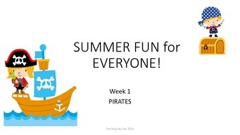 SUMMER FUN Review Pack - Week 1 Pirates!