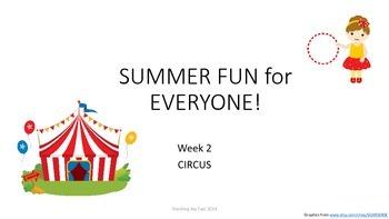 SUMMER FUN Review Pack - Week 2 Circus!
