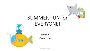 SUMMER FUN Review Pack - Week 3 Ocean!