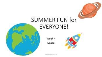 SUMMER FUN Review Pack - Week 4 Space!