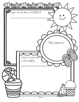 SUMMER Dictate and Draw Printable - Free