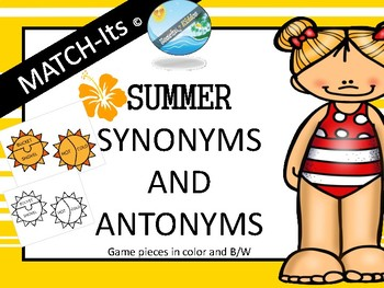 SUMMER - GRAMMAR MATCH-its Antonyms  Synonyms  #june2018slpmusthave