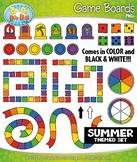 SUMMER Game Boards Clipart {Zip-A-Dee-Doo-Dah Designs}