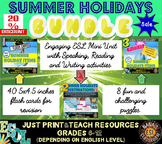 Summer Holidays Unit, Flash Cards and Word Puzzles MEGA BUNDLE for ESL/ELL