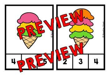 SUMMER KINDERGARTEN COUNTING CENTERS 1-10 (PREK SUMMER COUNTING ACTIVITIES)