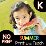 SUMMER Kindergarten Distance Learning - Independent Work Packet Math Reading