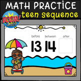 TEEN NUMBER SEQUENCE BOOM CARDS