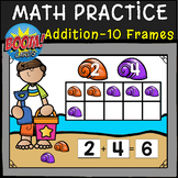 SUMMER MATH- ADDITION with Ten Frames: BOOM CARDS