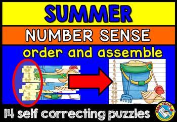 SUMMER MATH CENTER (SUMMER KINDERGARTEN NUMBER SENSE PUZZLES) NUMBERS 1-10