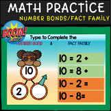 NUMBER BONDS | Fact Families of 10 | BOOM CARDS | Distance Learning