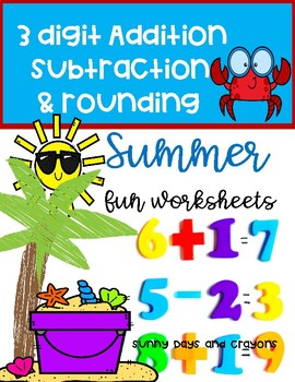 SUMMER MATH WORKSHEETS / ACTIVITIES