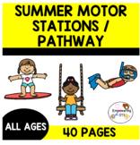 SUMMER MOTOR STATIONS & GROSS MOTOR for self regulation / strength! OT SPED