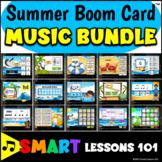 SUMMER MUSIC Boom Card™️ BUNDLE Music Rhythms Notes Tempo Dynamics Instruments