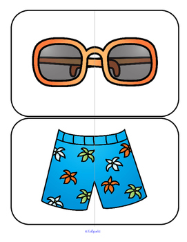SUMMER Puzzle Centers Activities and Printables for Preschool