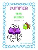 SUMMER Math Bundle! - Grades 1 - 3
