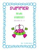 SUMMER Math Bundle! Grades 3 - 5