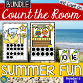 SUMMER Math Center: Count the Room and Count On {BUNDLE}