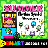 Distance Learning SUMMER Music Worksheets Rhythm Activities End of the Year
