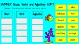 SUMMER Nouns, Verbs and Adjectives Sorting Activity - Goog