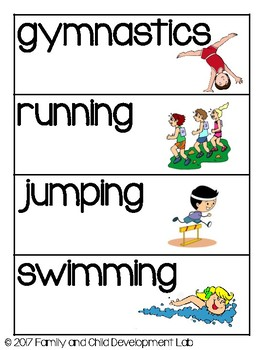 SUMMER GAMES AND SPORTS Dramatic Play Center (ATHLETICS)