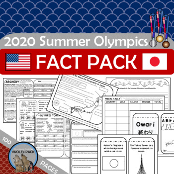 SUMMER OLYMPIC FUN FACT PACK Reading Passasges Writing Prompts Math More