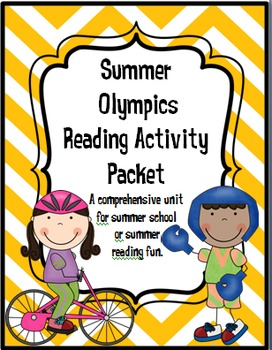 SUMMER Olympic Reading Activity Packet - Common Core