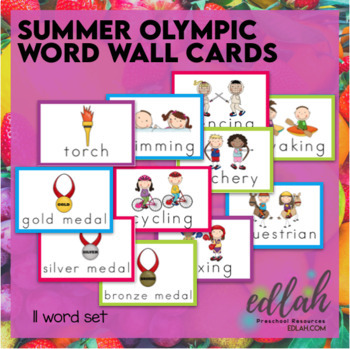 SUMMER Olympic Word Wall Cards (set of 11)