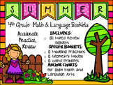 SUMMER PACKET - 4th Grade Math & Language Art  Booklets / Anchor Charts