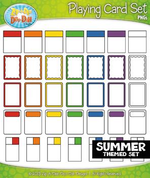 SUMMER Playing Cards Clipart {Zip-A-Dee-Doo-Dah Designs}