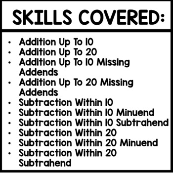 SUMMER PACKET | QR TAGS | MATH ADDITION AND SUBTRACTION