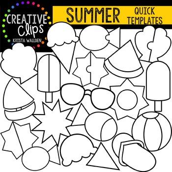 SUMMER Quick Templates {Creative Clips Digital Clipart}