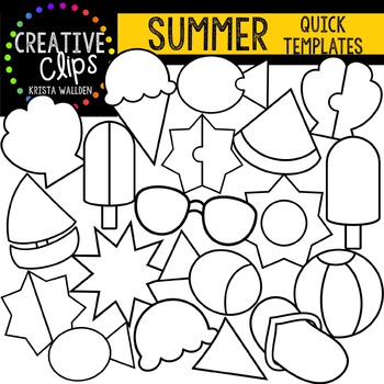 SUMMER Quick Templates {Creative Clips Digital Clipart}