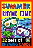 RHYMING WORDS ACTIVITY (KINDERGARTEN SUMMER LITERACY CENTER)