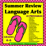 SUMMER REVIEW • LANGUAGE ARTS