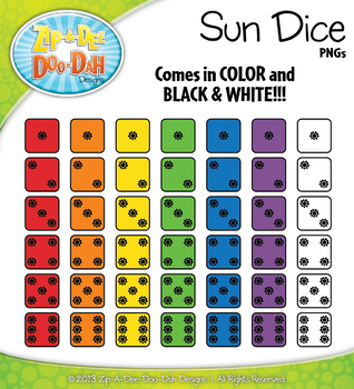 SUMMER Raindrop Dice Clipart {Zip-A-Dee-Doo-Dah Designs}