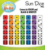 SUMMER Sun Dice Clipart {Zip-A-Dee-Doo-Dah Designs}