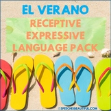 NO PREP SUMMER Receptive & Expressive Language Pack Speech Therapy PK-1 SPANISH
