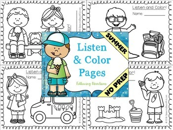 NO PREP SUMMER Speech Therapy - Receptive & Expressive Language Pack (PK-1)