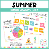 SUMMER - Remote learning pack