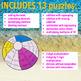 SUMMER SCHOOL ACTIVITIES 5TH GRADE MATH CENTERS - BEACH MATH - BEACHBALL