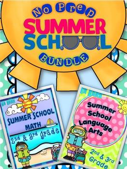 SUMMER SCHOOL BUNDLE  {2ND & 3RD GRADE} - NO PREP
