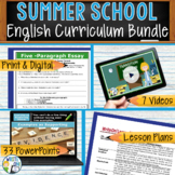 SUMMER SCHOOL ENGLISH CURRICULUM BUNDLE!!!!! - High School